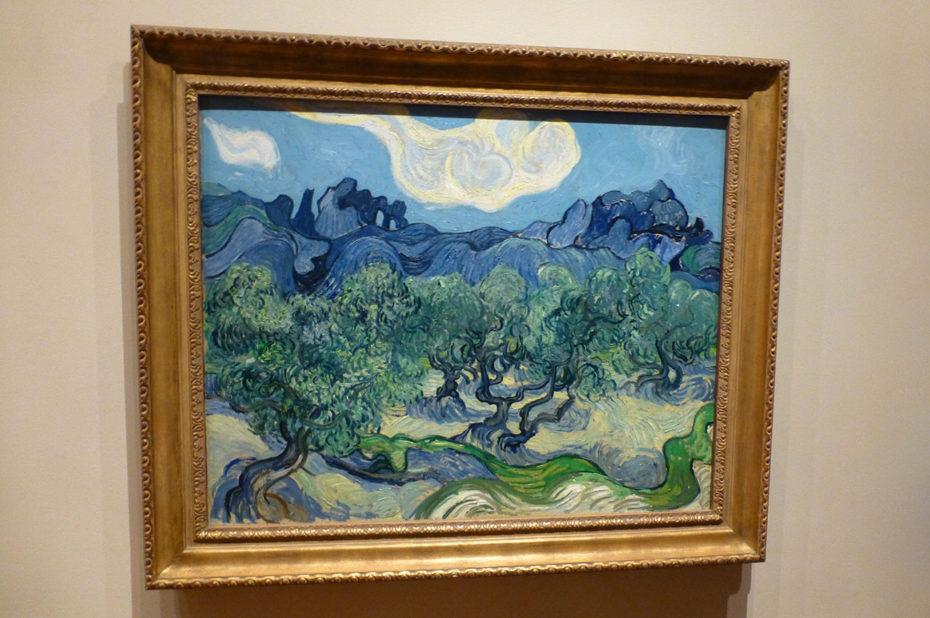 Oliviers avec les Alpilles dans le fond de Vincent Van Gogh
