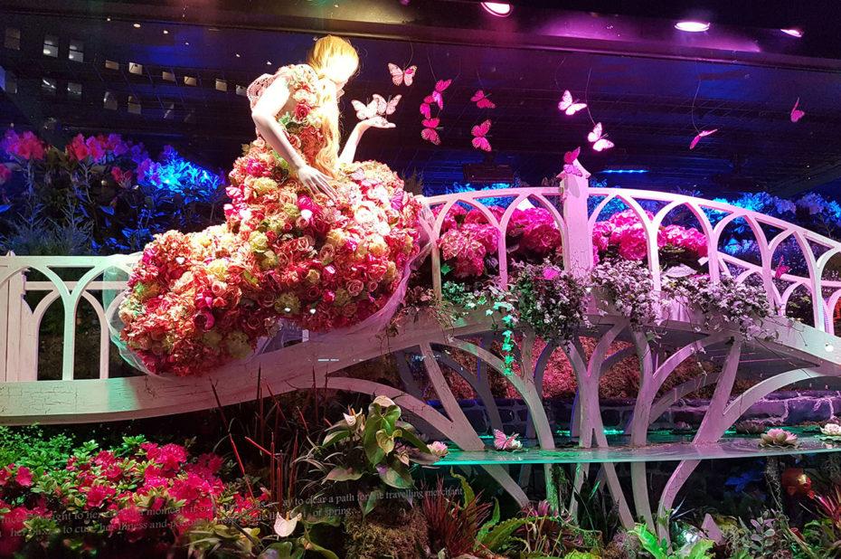 La vitrine florale de Macy's