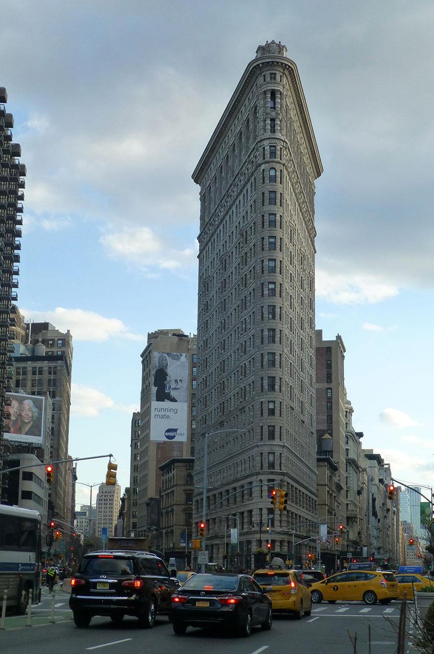 Le Flatiron Building, l'un des immeubles les plus originaux de New York
