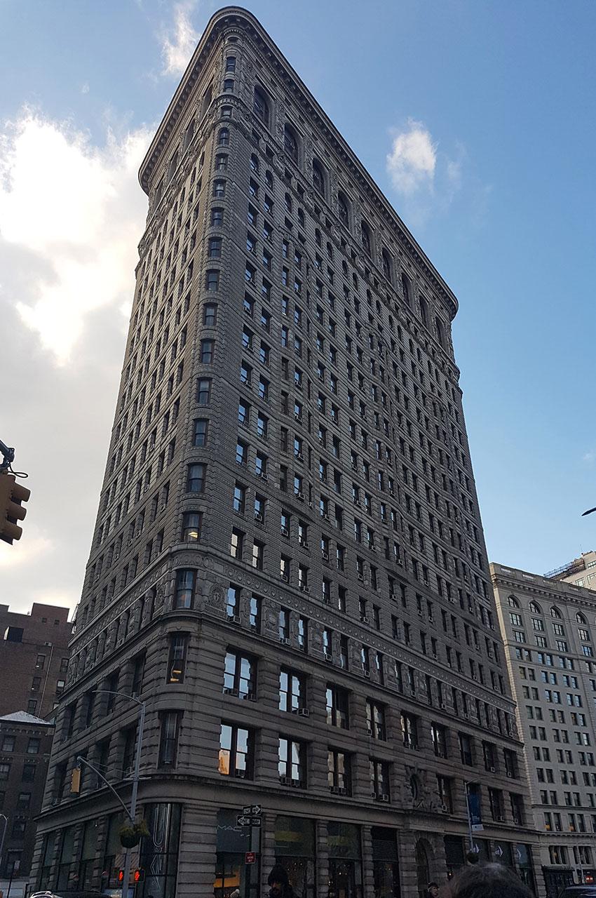 Le Flatiron, un immeuble en forme de fer à repasser