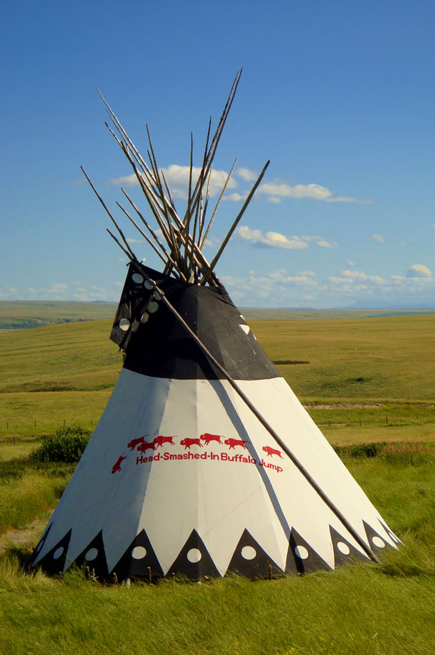 Tipi à Head Smashed In Buffalo Jump