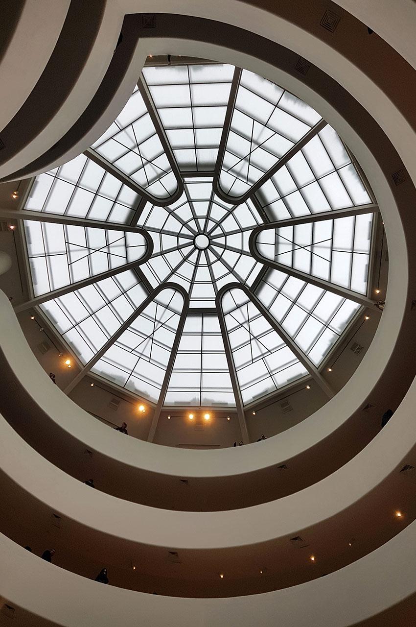 La verrière du musée Guggenheim