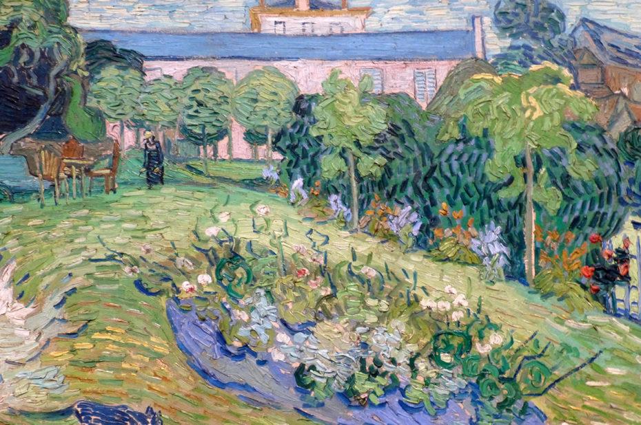 Le Jardin de Daubigny avec un chat bleu de Vincent Van Gogh