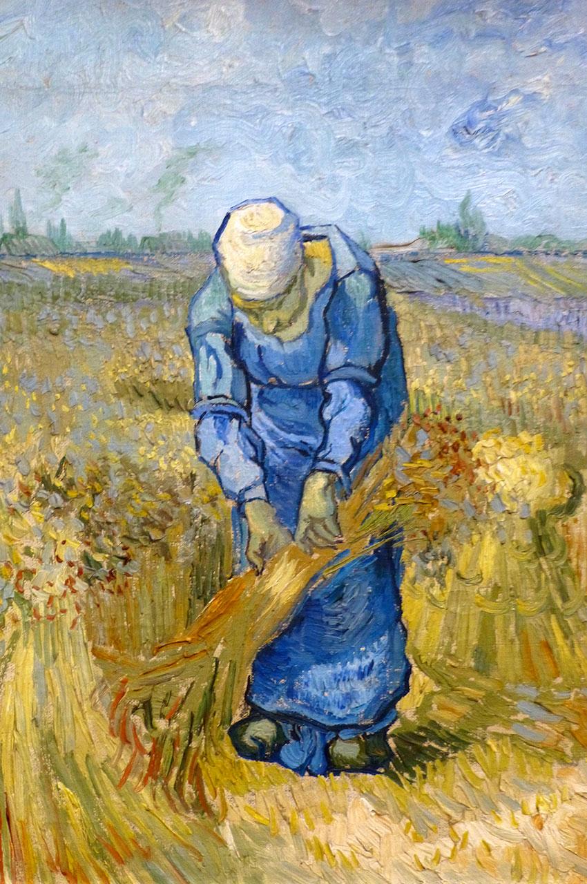 La lieuse de bottes de Vincent Van Gogh