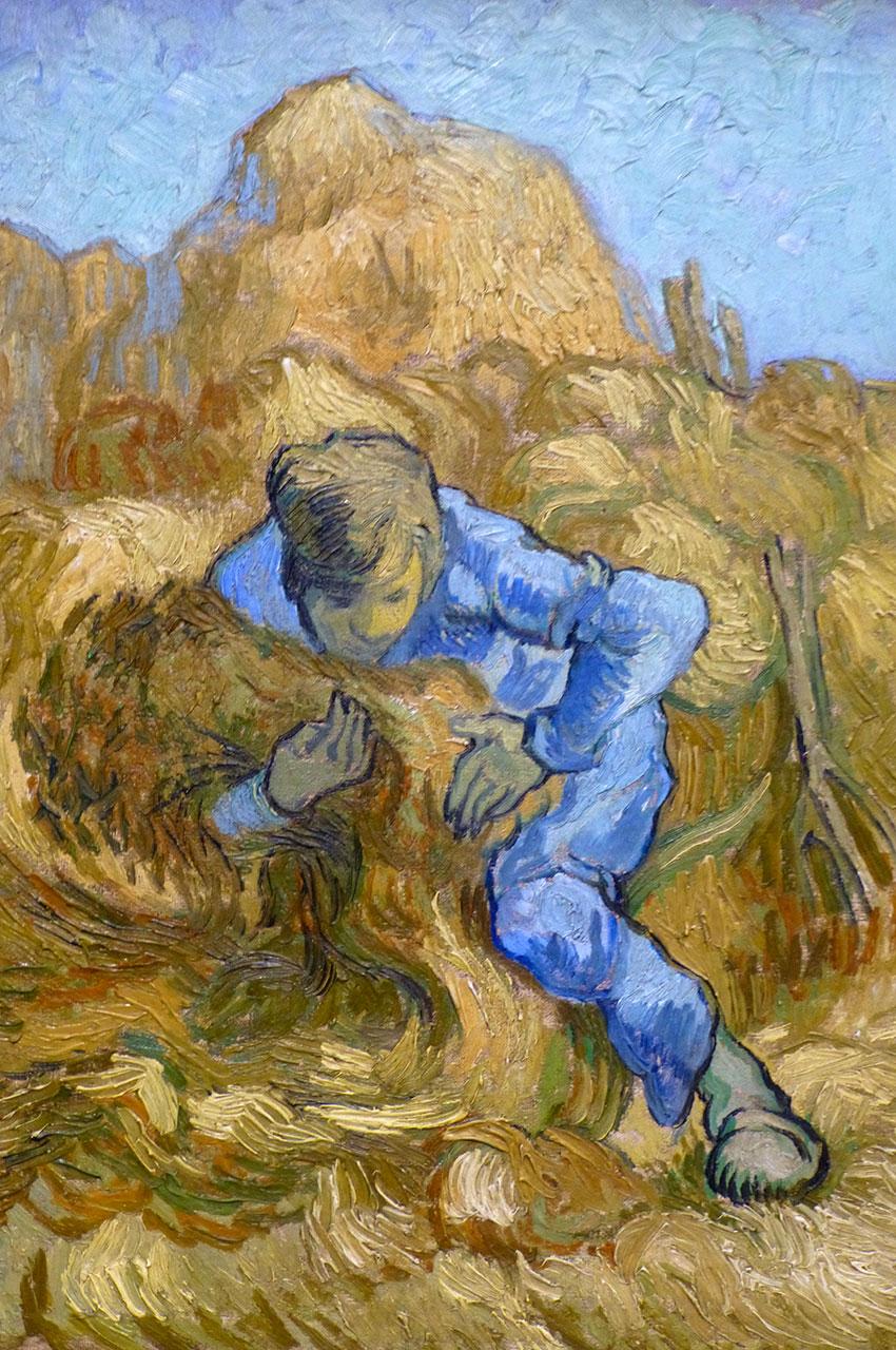 Le botteleur (d'après Millet) de Vincent Van Gogh