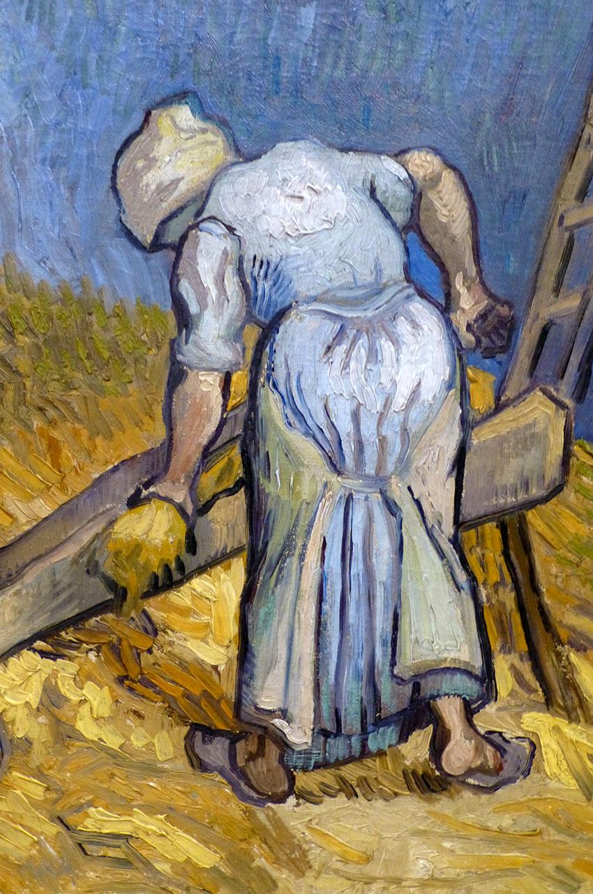 Paysanne coupant de la paille de Vincent Van Gogh