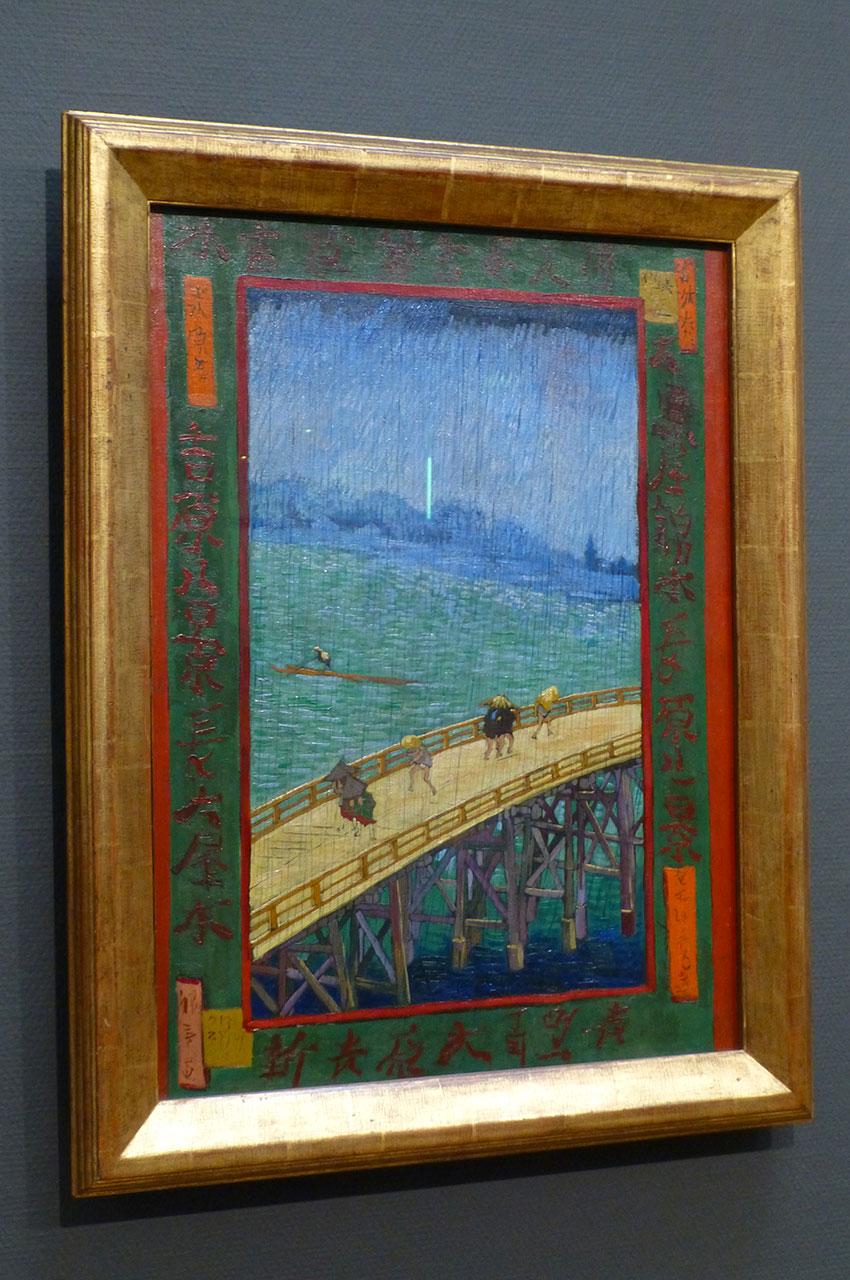 Pont sous la pluie, d'après Hiroshige de Vincent Van Gogh
