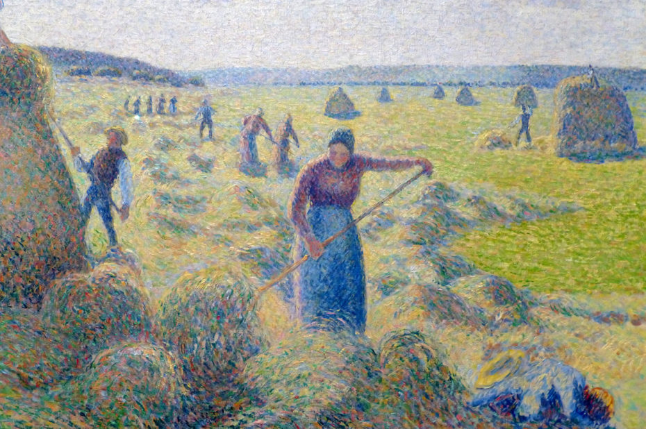 La récolte des foins de Camille Pissarro