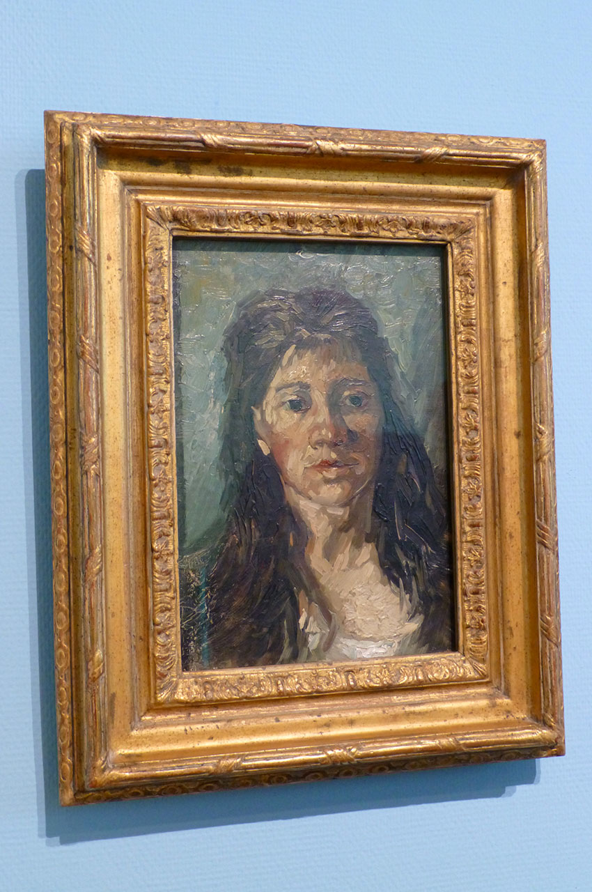 Tête de Femme avec ses cheveux lâche de Vincent Van Gogh
