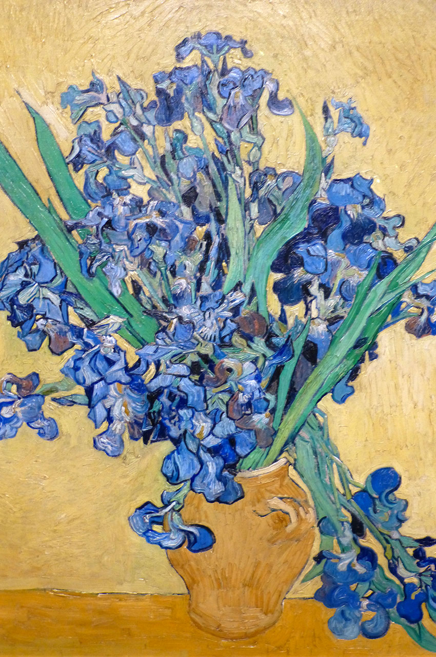 Vase avec iris de Vincent Van Gogh