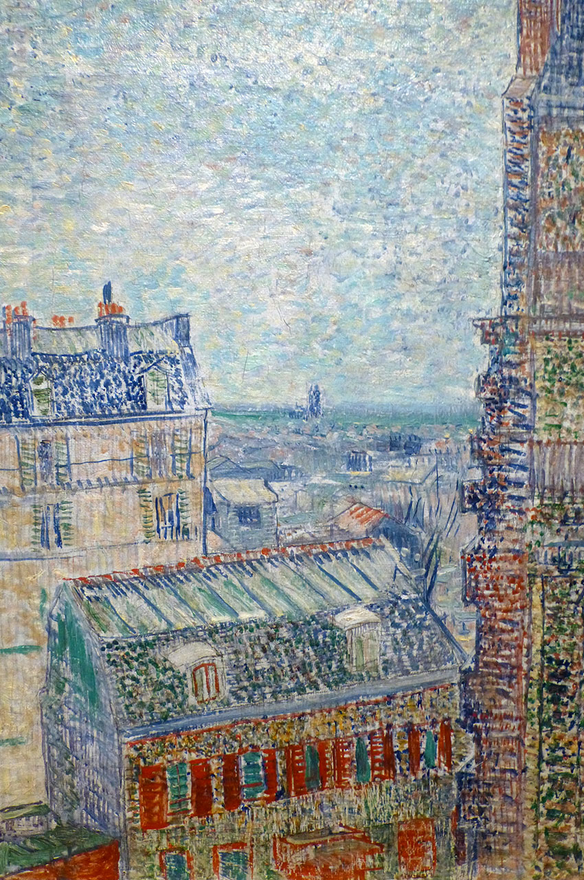 Vue depuis l'appartement de Théo de Vincent Van Gogh