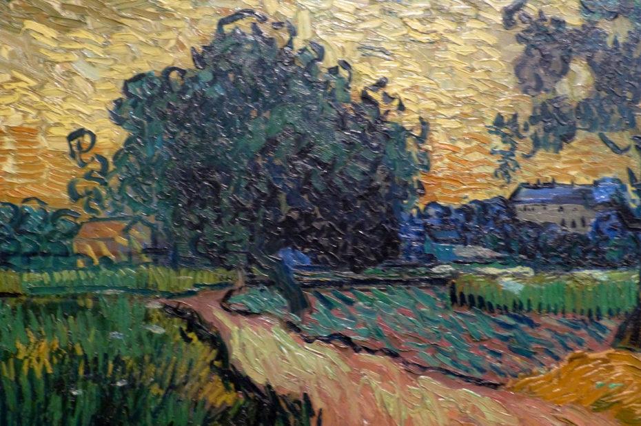 Le château d'Auvers au coucher du soleil de Vincent Van Gogh