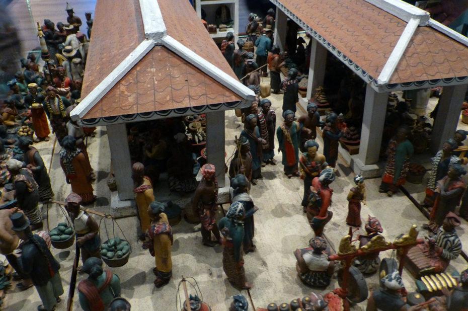 Maquette d'un marché javanais
