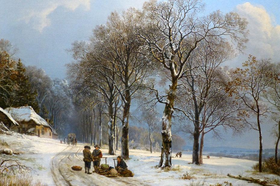 Paysage d'hiver de Barend Cornelis Koekkoek