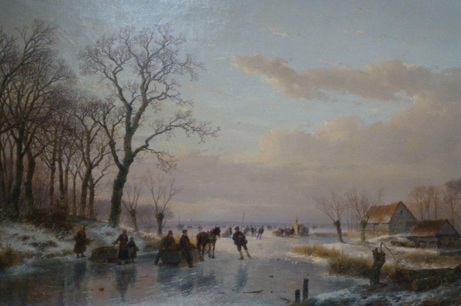 Scène hivernale de Andreas Schelfhout