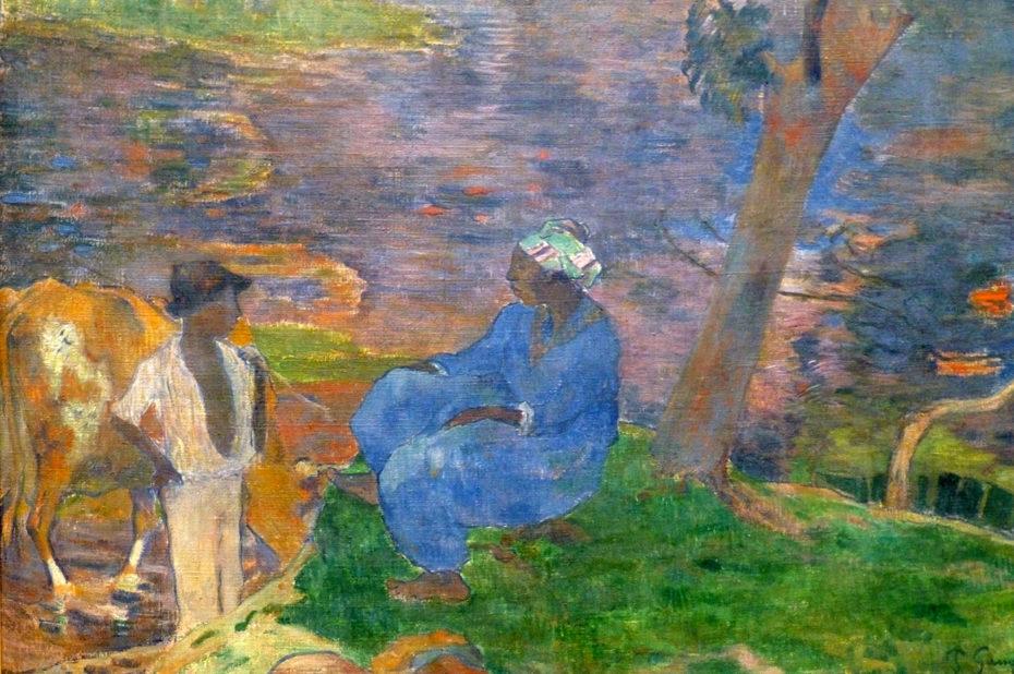 Sur les rives de la rivière à la Martinique de Paul Gauguin
