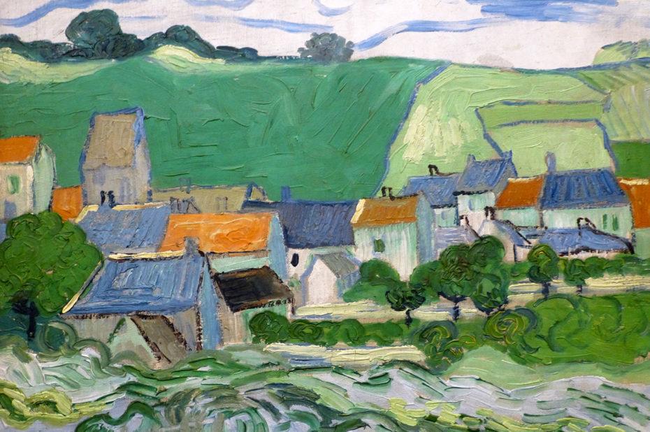Vue d'Auvers-sur-Oise de Vincent Van Gogh