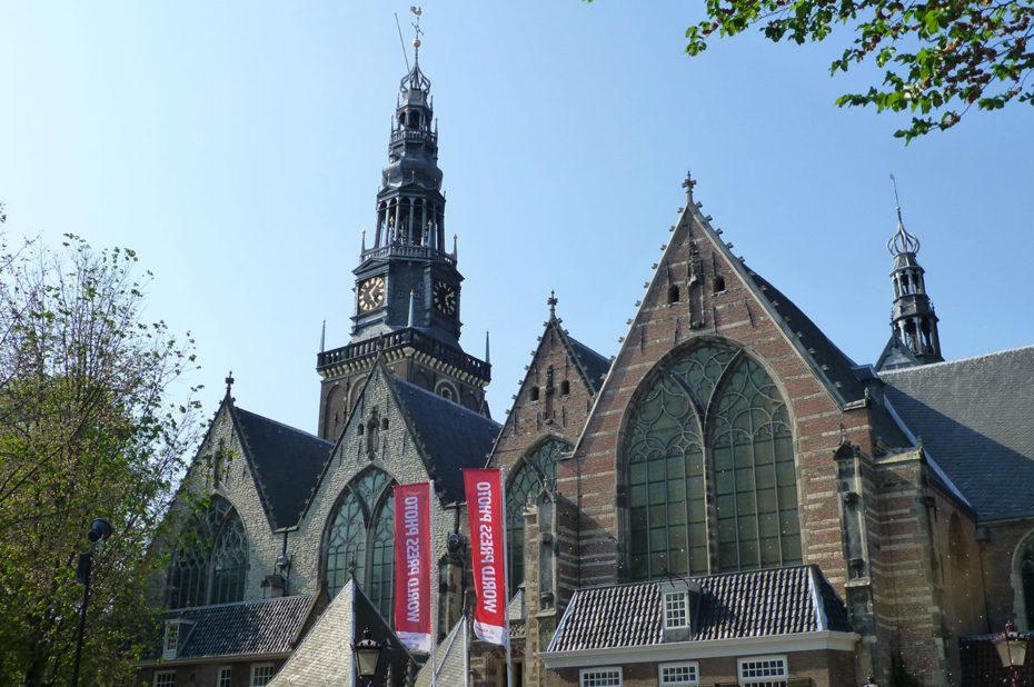 La vieille église d'Amsterdam, ou Oude Kerk