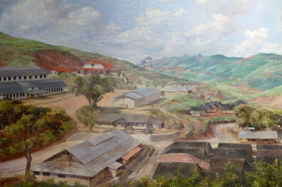 Peinture de GJ Ensink, plantation de thé à Cigombong (Indonésie)