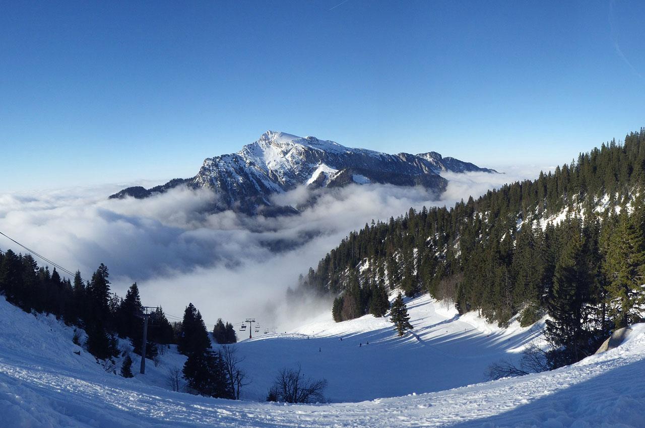 Piste de ski à Saint-Pierre de Chartreuse