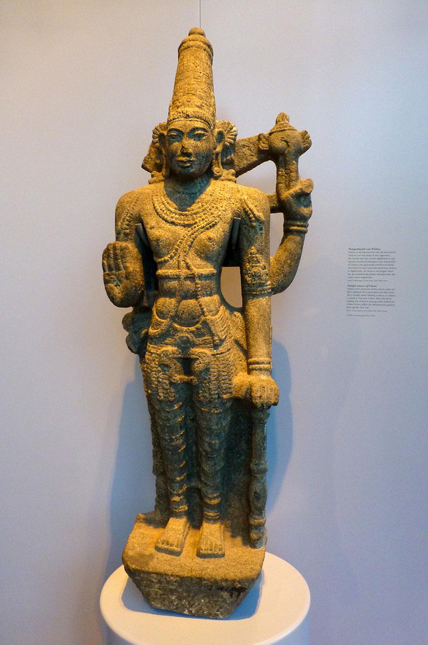 Statue du temple de Vishnu