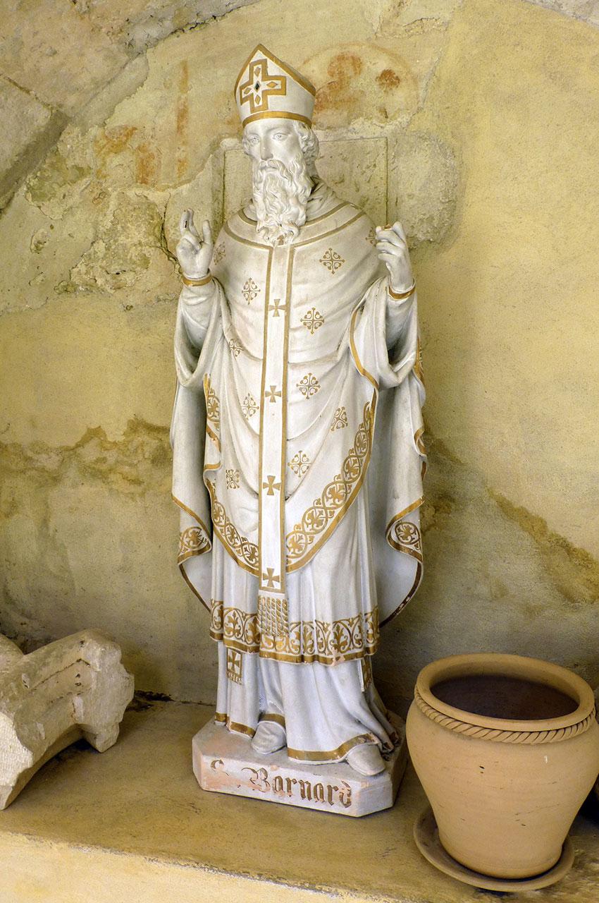Statue de saint Barnard, fondateur de l'Abbaye