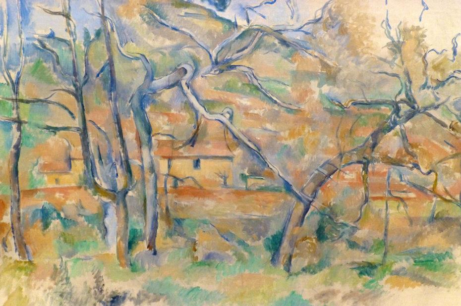 Arbres et maisons, de Paul Cézanne