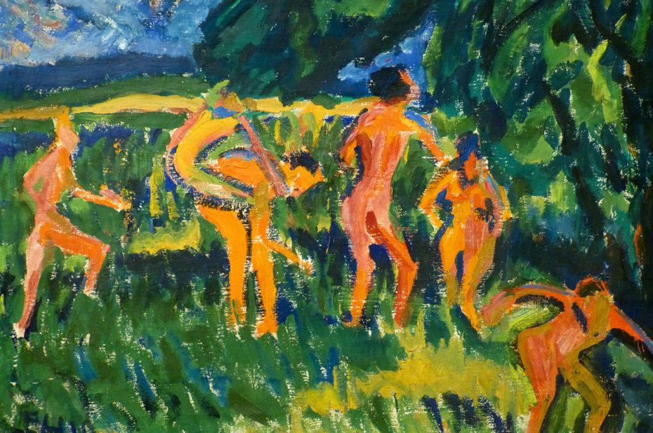 Baigneurs dans les roseaux, de Erich Heckel