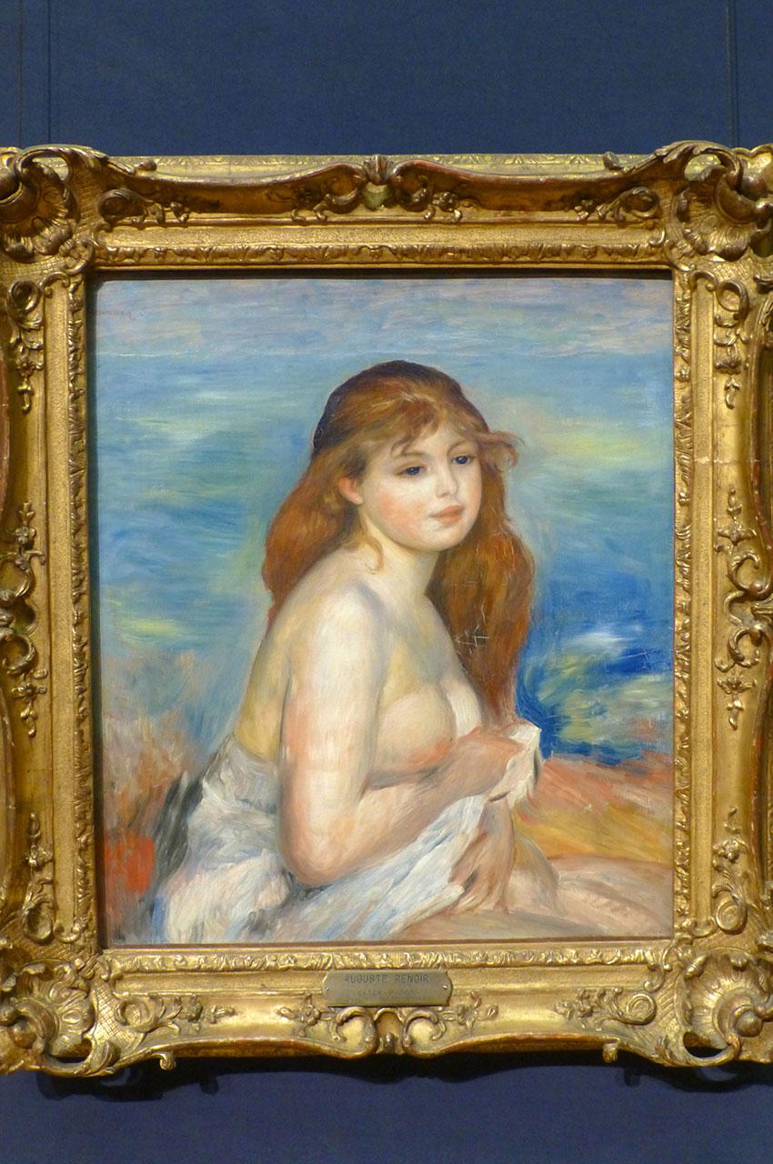 La baigneuse blonde, de Pierre-Auguste Renoir