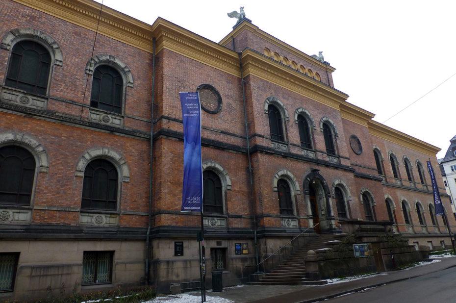 Le bâtiment de briques de la Galerie Nationale d'Oslo