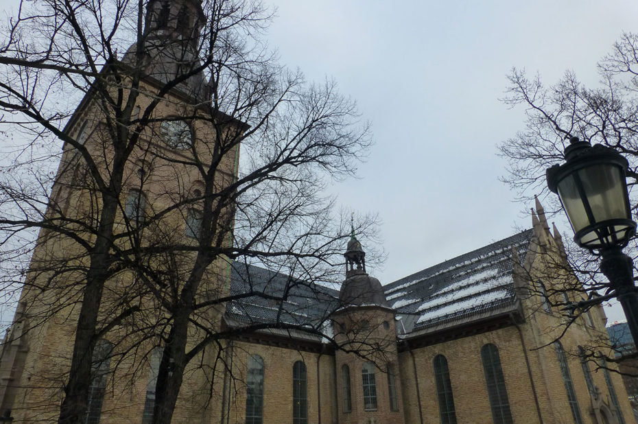 La cathédrale d'Oslo a été construite en 1697 et rénovée en 2010
