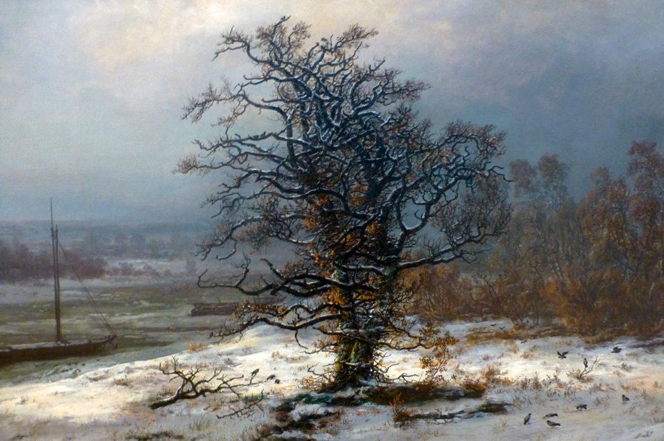 Chêne de l'Elbe en hiver, de Johan Christian Dahl