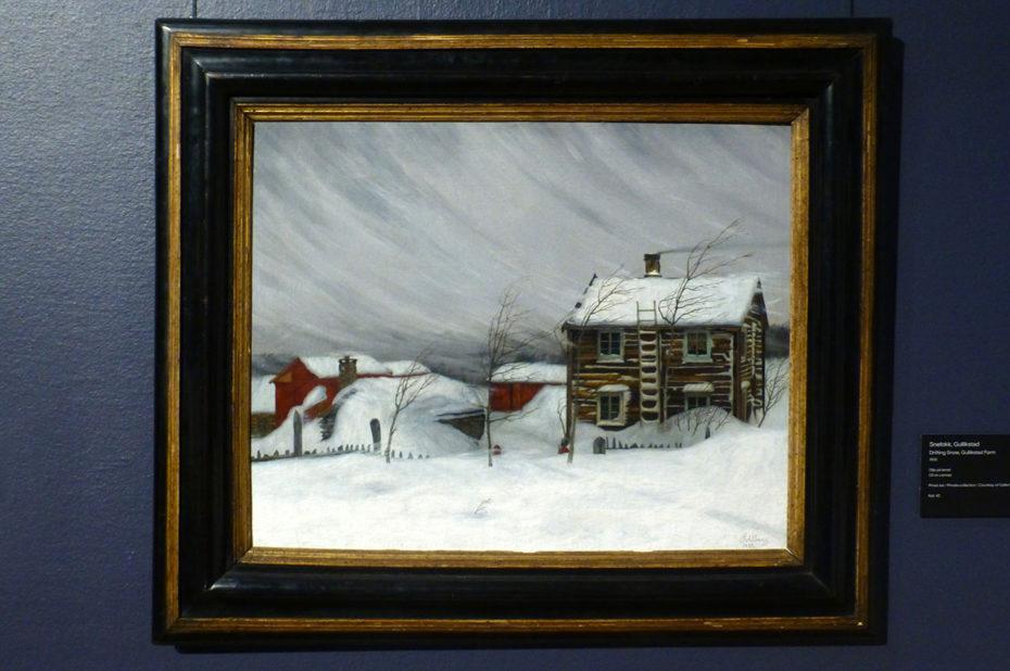Drifting snow, peinture de Harald Sohlberg
