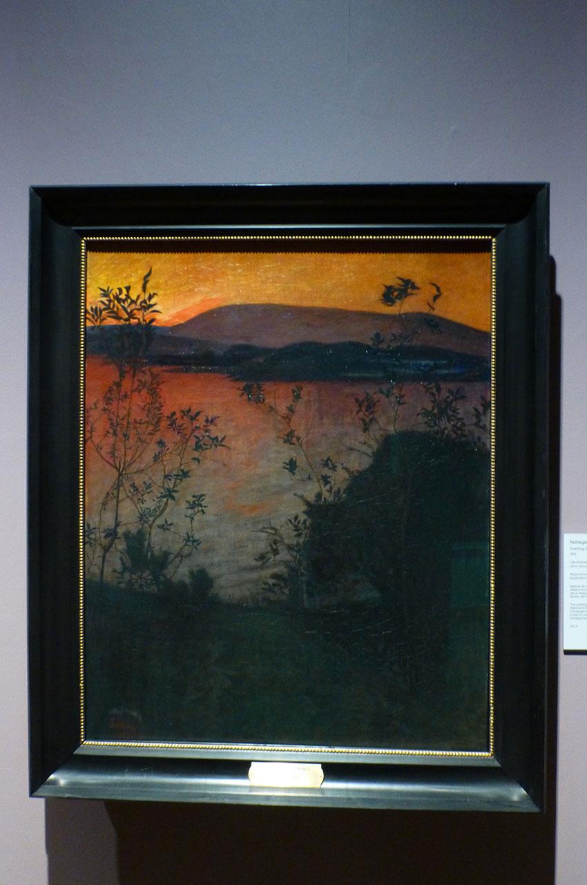 Evening glow, peinture de Harald Sohlberg