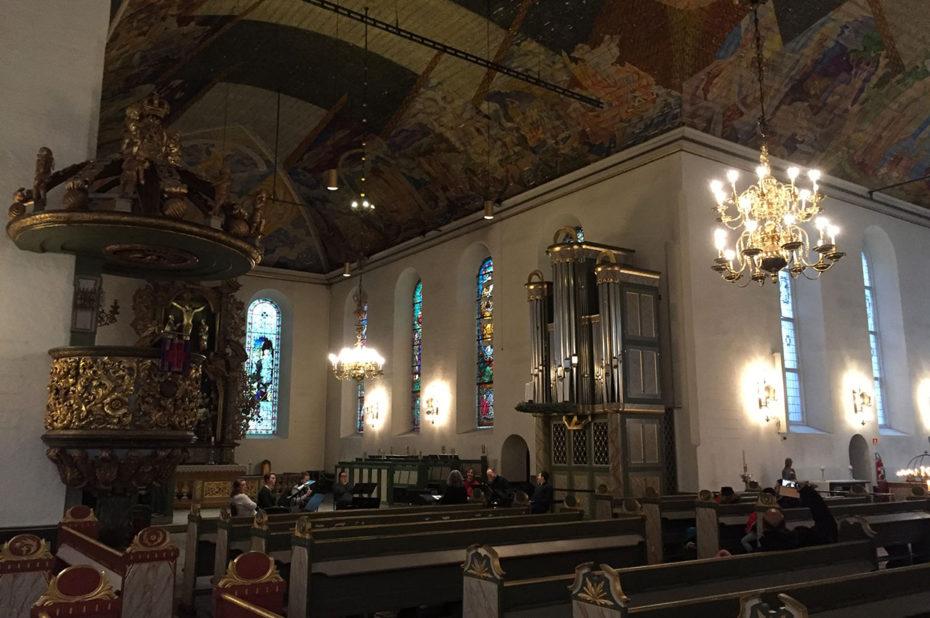 L'intérieur de la cathédrale d'Oslo