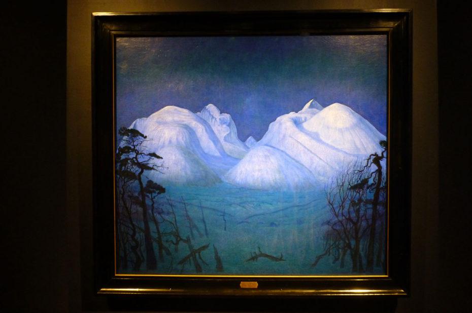 Nuit d'hiver dans les montagnes, de Harald Sohlberg
