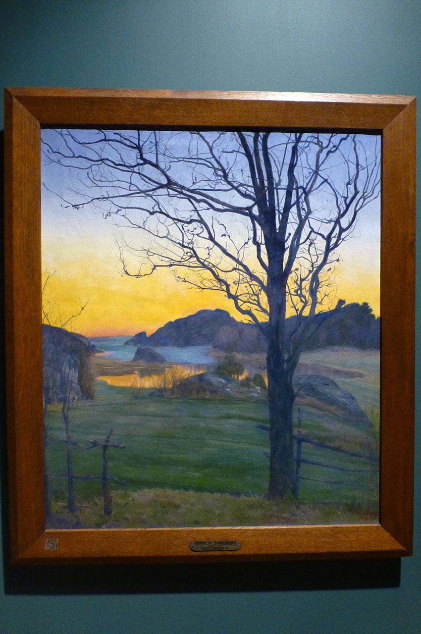 Paysage d'automne, peinture de Harald Sohlberg