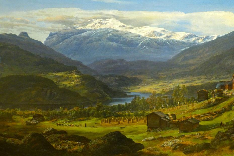Peinture Vue de Hjelle à Valdres de Johan Christian Dahl