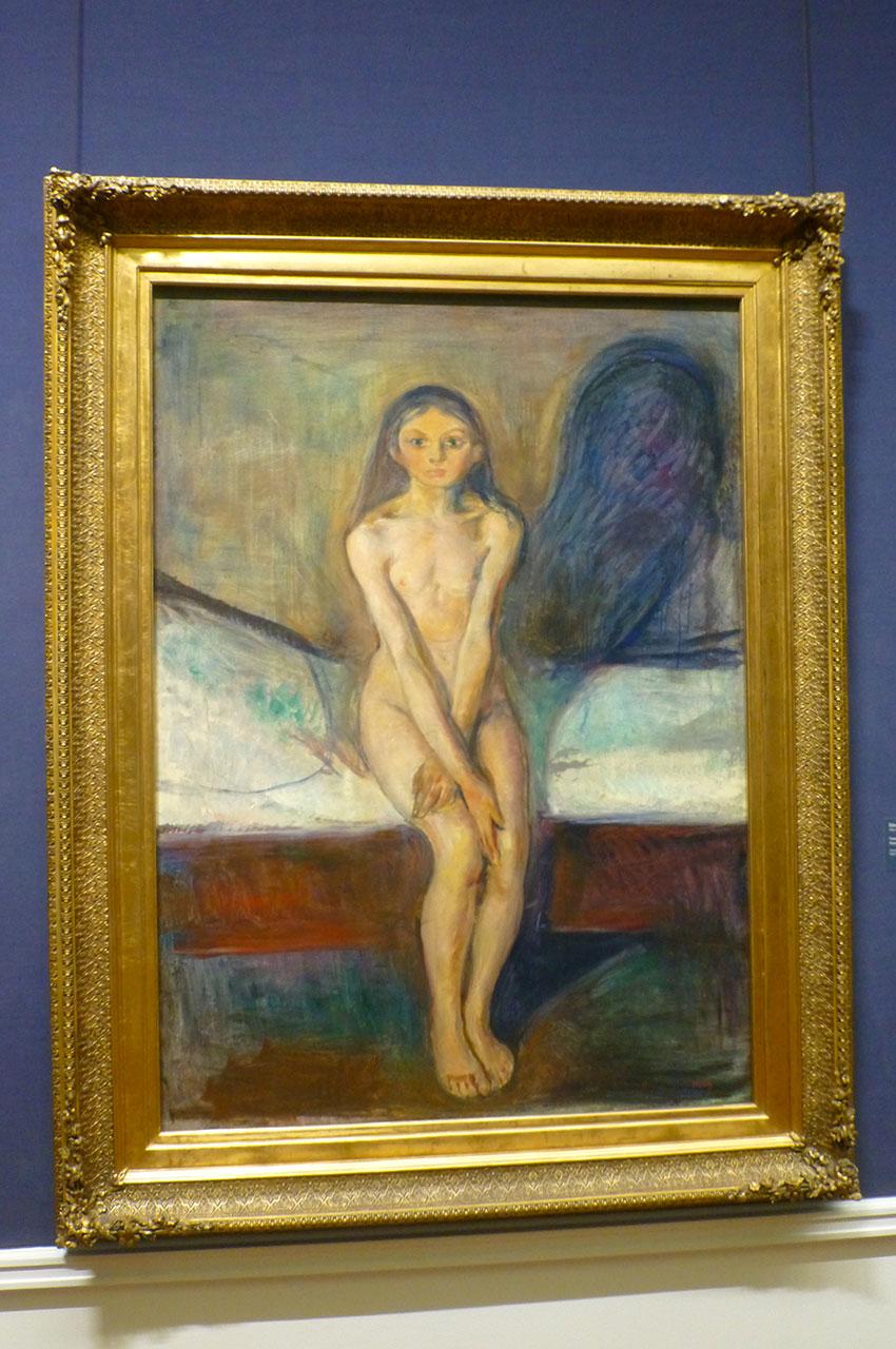 Puberté, peinture de Edvard Munch