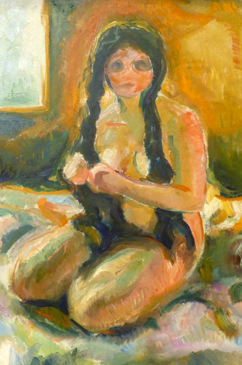Seated nude, de Edvard Munch