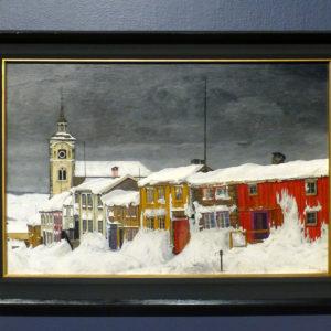 Street in Røros, peinture de Harald Sohlberg