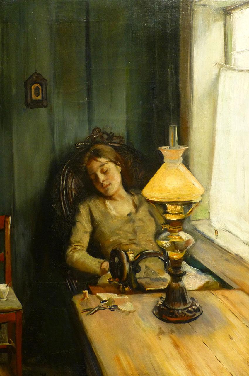Tired, peinture de Christian Krohg