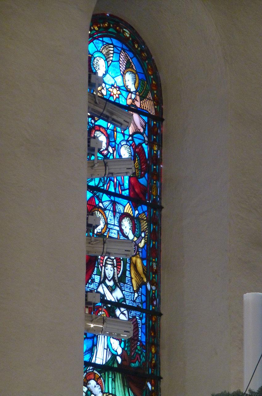 Un des vitraux de la cathédrale d'Oslo