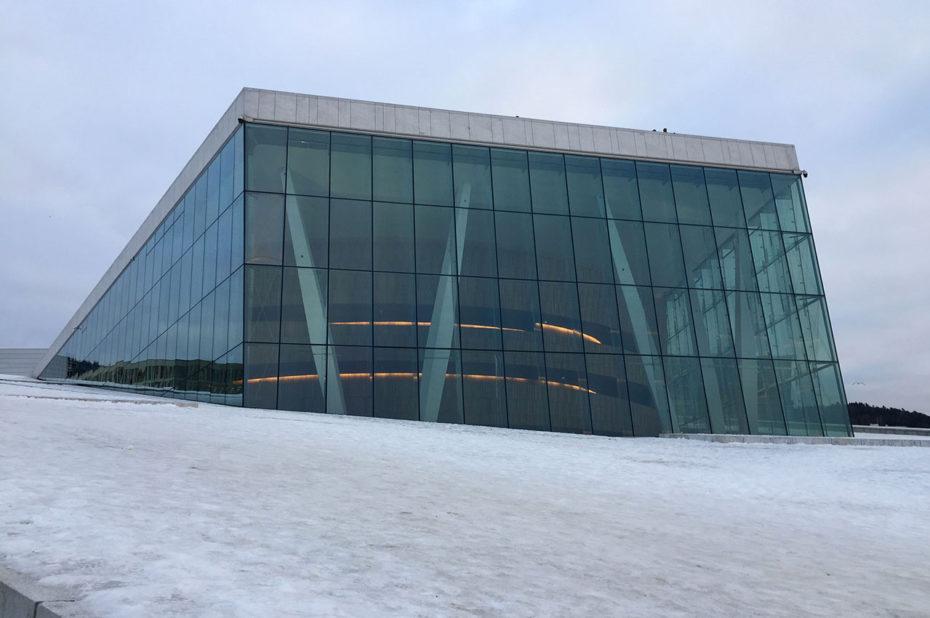 La verrière et le toit de l'opéra