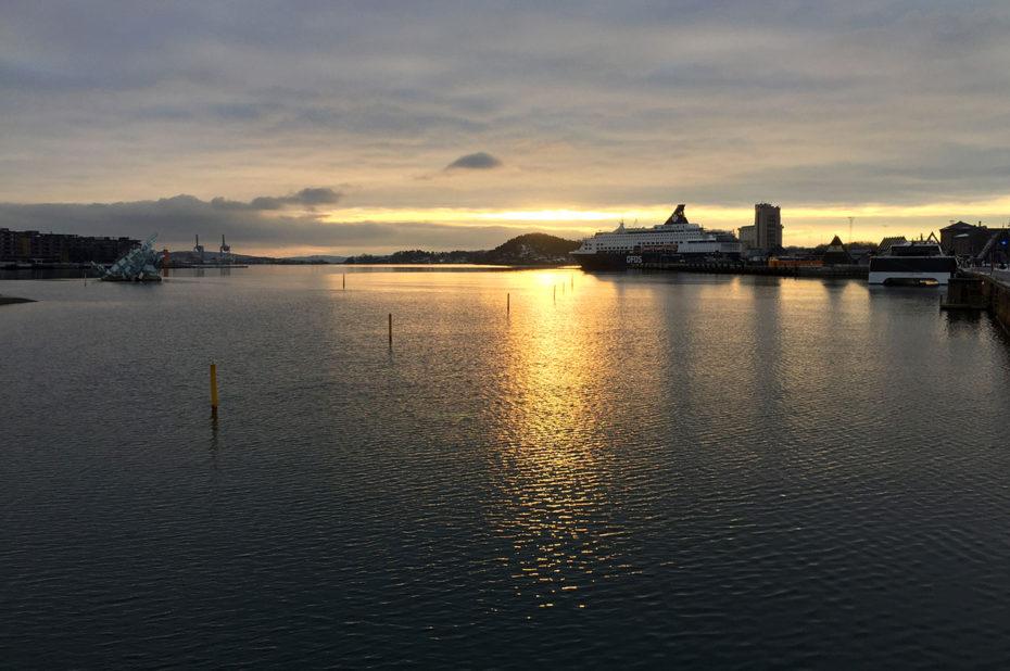 Vue sur le fjord d'Oslo depuis l'Opéra