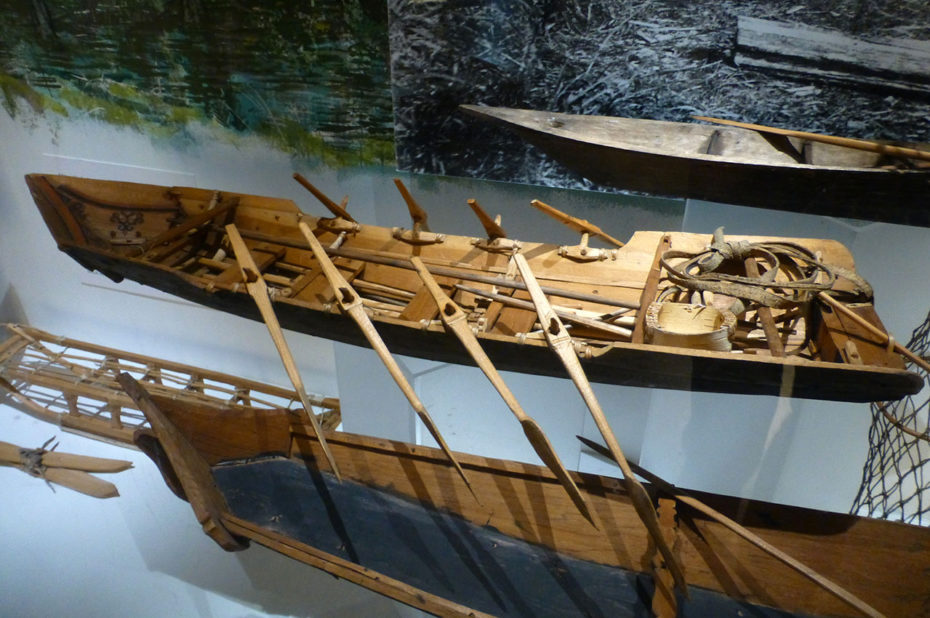 Embarcations typiques des peuples nordiques