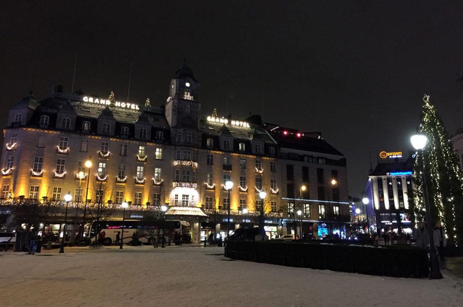 Le Grand Hotel et la rue Karl Johans Gate
