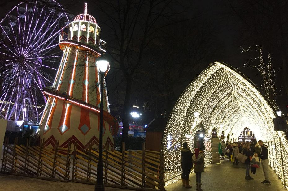 Lumières et décors de Noël