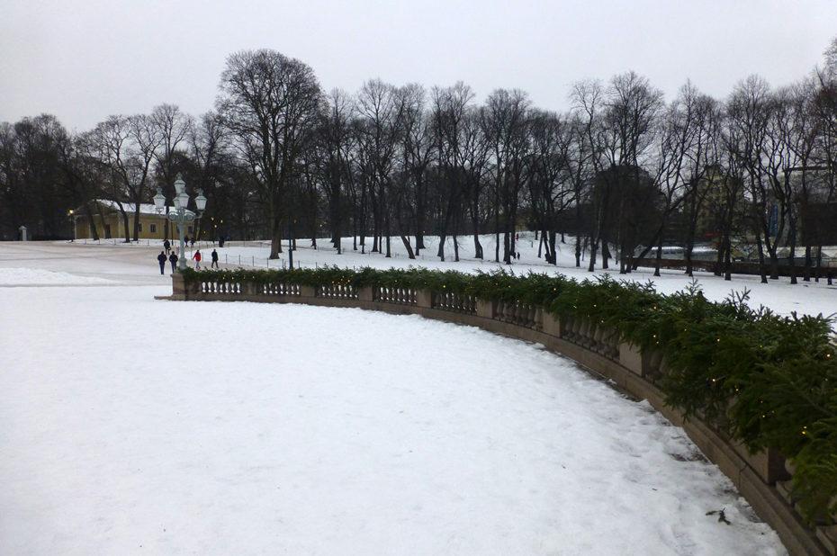 Slottsparken, où les Osloïtes ont l'habitude de se promener