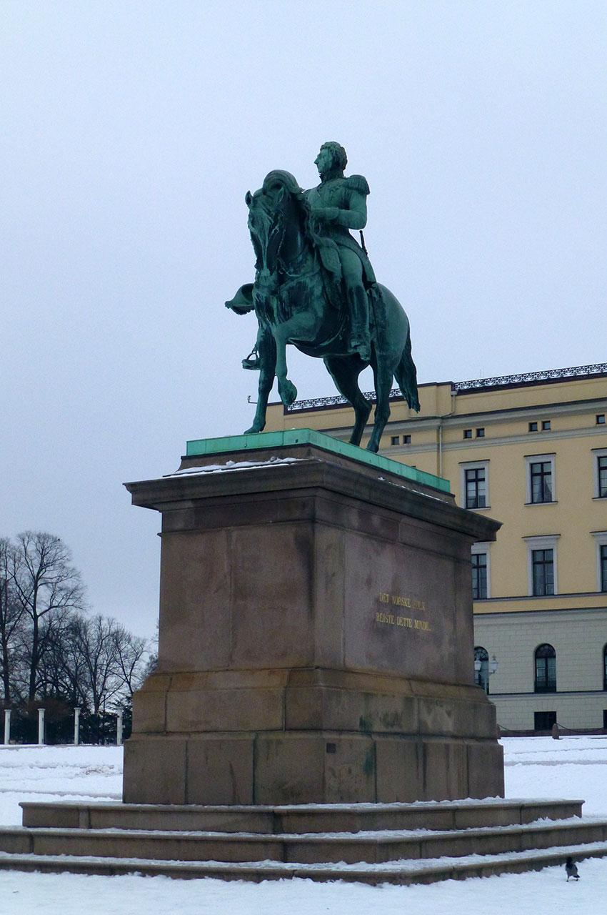 Statue équestre du roi Karl XIV Johan